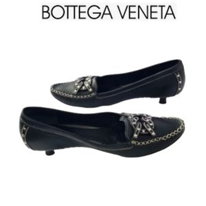 Bottega Veneta Leather Black Kitten Heels Size 6